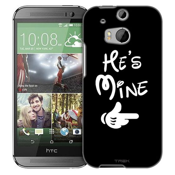 HTC One M8 He's Mine on Black Slim Case