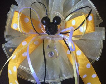 Mickey Mouse Baby Shower Corsage