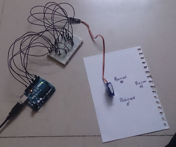 Coupled LED-Servo controller using Arduino