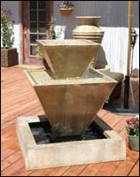 Double Oblique Water Fountain
