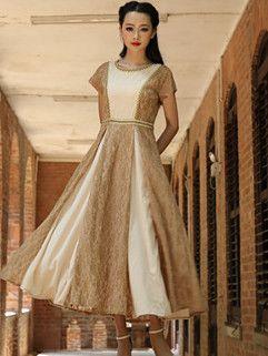 High Quality Noble Women High Waist Ball Gown Yellow Chiffon Dress