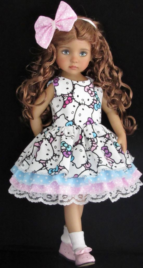 KITTY DRESS AND SWEATER SET MADE FOR EFFNER LITTLE DARLING DOLLS