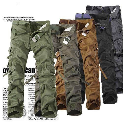 Men Combat Military Army Work Baggy Camo Outdoor Cargo Trousers Sweatpant Pants