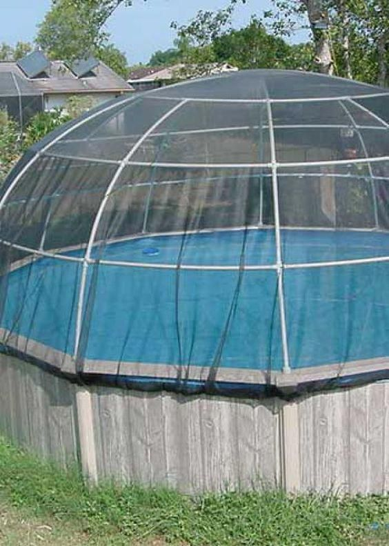 This Excellent Above Ground Pool Is A Really Inspiring And Perfect Idea Abovegroundpool Pool Cage Above Ground Pool Landscaping Pool Canopy