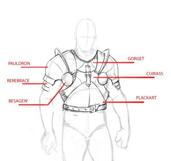 How To Draw A Knight Step By Step Tutorial Armor Drawing Knight Drawing Armor