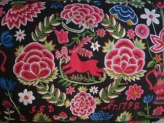 wool embroidery cushion cover