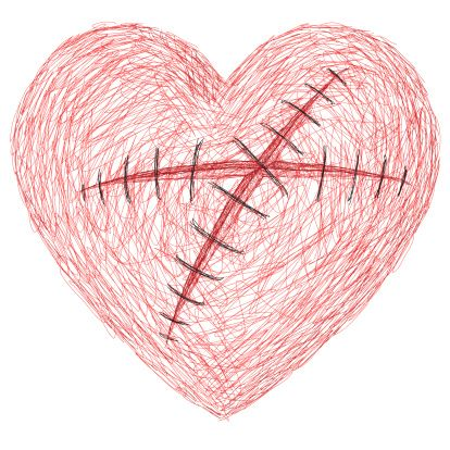 Arte vectorial : the wounded heart