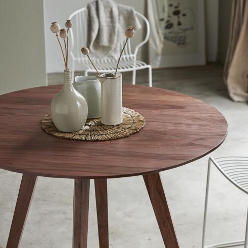 Table En Palissandre 100 Eliana Table Bois Table Salle A Manger Table De Repas Ronde