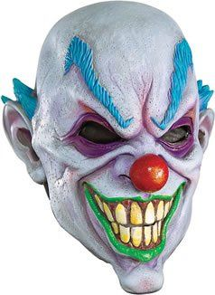 Adult Very Scary High Quality Vinyl Clown Costume Mask. From #Rubie's Costume Co. List Price: $20.91. Price: $8.93