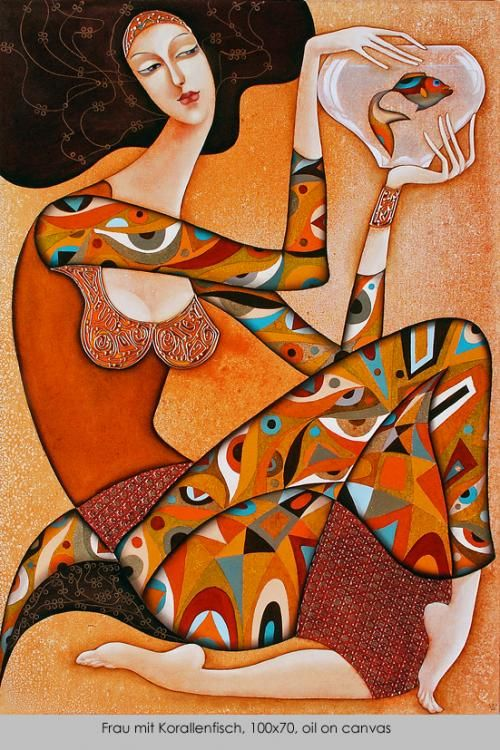 Wlad Safronow - Secession - Angel with coral fish: