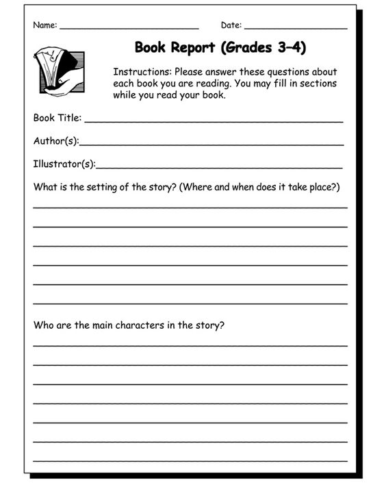 how to write a 3rd grade book report