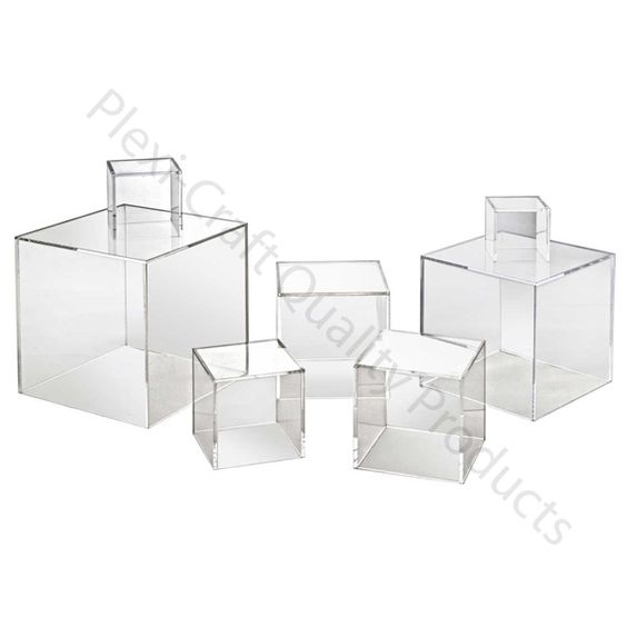 Cubes Clear Hollow Cubes Available In A Variety Of Sizes 4 5 6 7 8 10 12 Or 16 Cube 1 4 Thick Cl Plexi Craft Plexus Products Acrylic Furniture