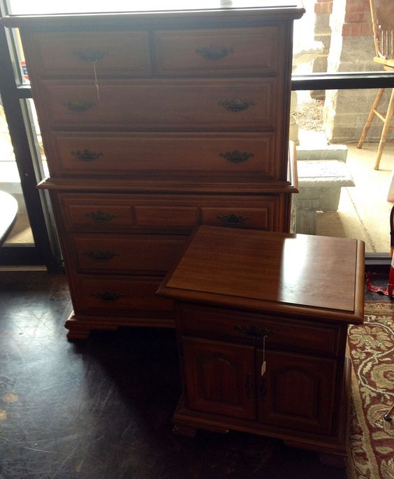 Sumter Cabinet Co maple chest& night stand