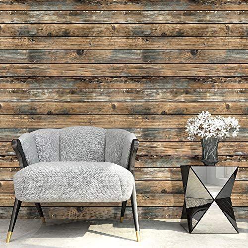 Wood Plank Shiplap Peel And Stick Wallpaper Brown Amazon Com Wood Plank Wallpaper Wood Planks Home Decor