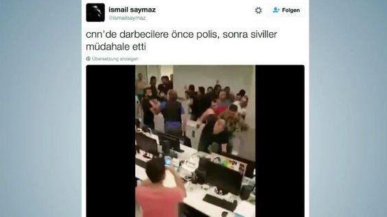 n-tv Netzreporter: Handyvideo zeigt turbulente Szenen in türkischem TV-Sender