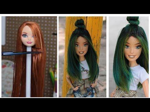 Youtube Barbie Hair Barbie Doll Hairstyles Diy Hairstyles