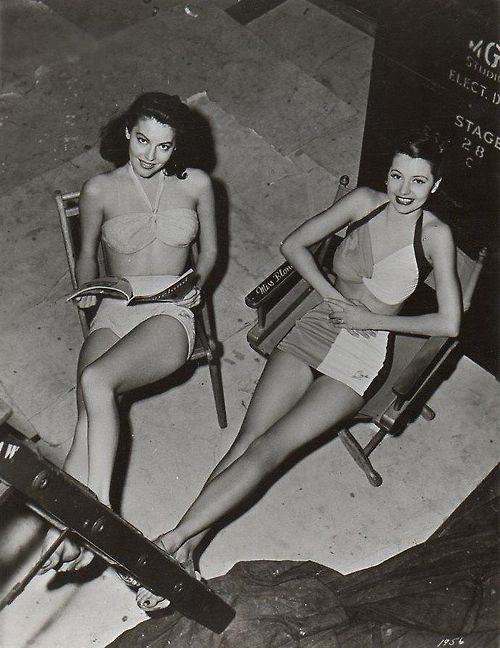 Ava Gardner and Cyd Charisse