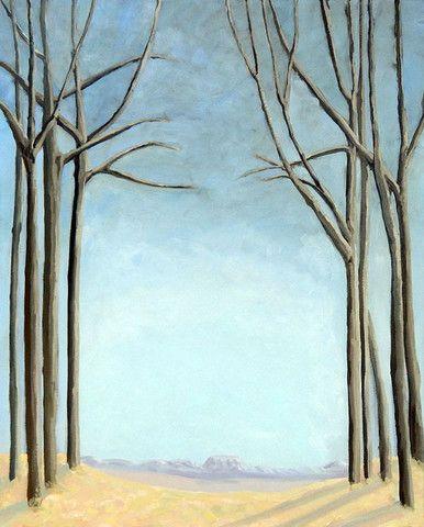 """""""Winter Plains"""" 24x30 Oil on Canvas ©Edward Nemec $800. – 555Editions"""