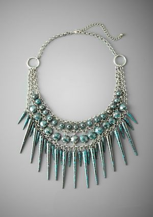 ROBERT ROSE Spike Statement Necklace
