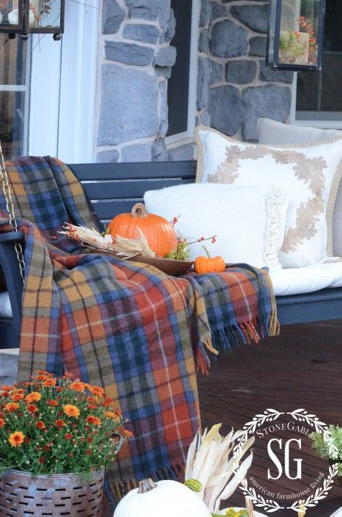 FALL BACK PORCH- Antique Buchanan Tartan-stonegableblog.com:
