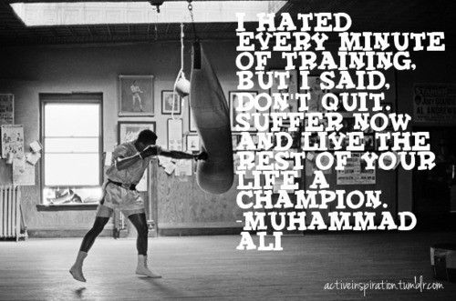 Be a champion.