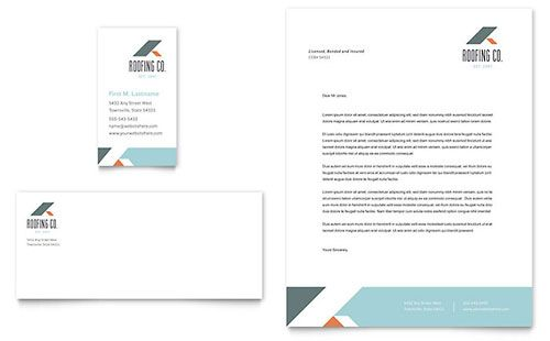 Roofing Company Letterhead Template  Download