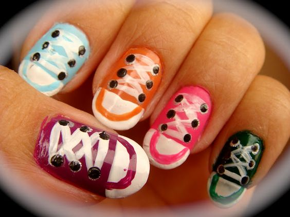 CONVERSE NAILS!!!!!!!!!!!!!!! IV'E ALWAYS WANTED TO DO THIS!!!!!!!!!!!!!!!!!!!!!!!!!!!!!!!!