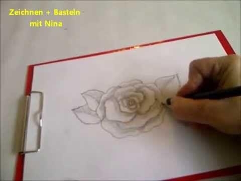 Zeichnen Lernen Fur Anfanger Blume Zeichnen Eine Bluhende Rose Malen Youtube Blumen Zeichnen Zeichnen Lernen Fur Anfanger Zeichnen Mit Bleistift