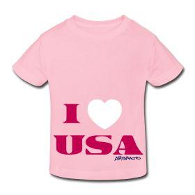 I Love USA – Toddler T-Shirt, 100% cotton by Artsmoto.com | $18