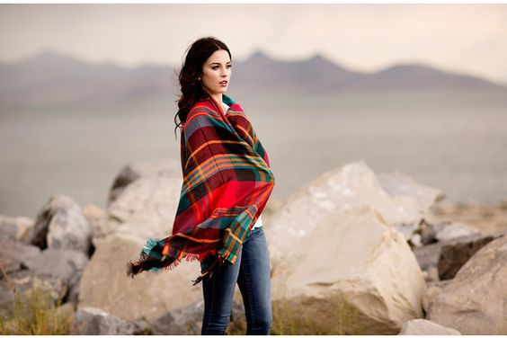 Plaid Shawl Scarf with Frayed Edge!    The blanket scarf trend is strong this season and this beautiful plaid rendition is sure to be a favorite.  Starting at    63% OFF