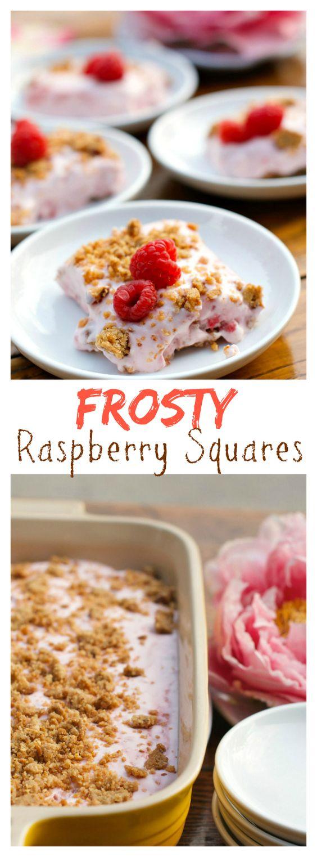Frosty Raspberry Squares