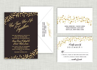 New Year Confetti Wedding Suite Order @ www.saraheilwagen.com #newyearwedding #newyearseve