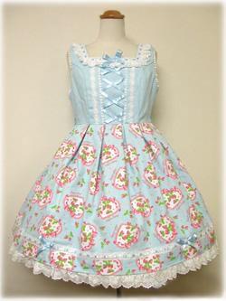 angelic pretty オリジナル苺プリントジャンパースカート