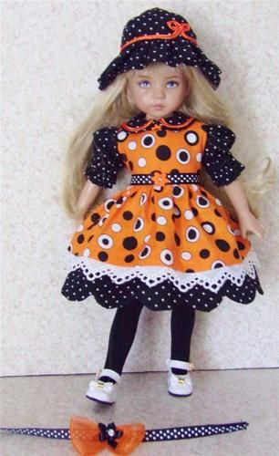 "Handmade dress and pinafore set made for Dianna Effner Little Darling 13"" Dolls:"
