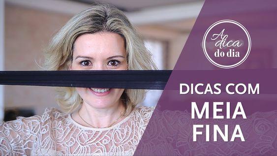 DICAS COM MEIA FINA (MEIA CALÇA) | #aDicadoDia COM FLÁVIA FERRARI (veja como limpar sua casa com meias finas que seriam descartadas)