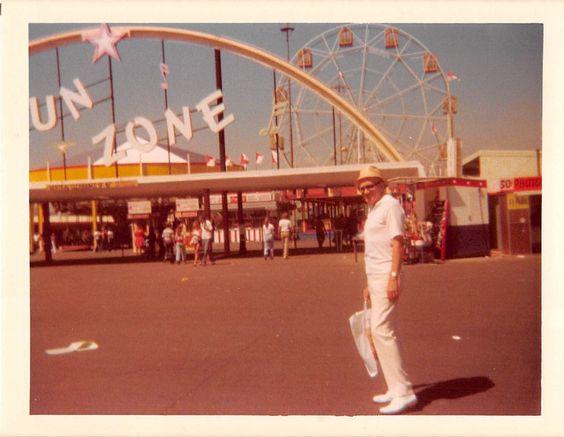 Photograph Snapshot Vintage Color Man Fun Zone Ferris Wheel 1970'S   eBay