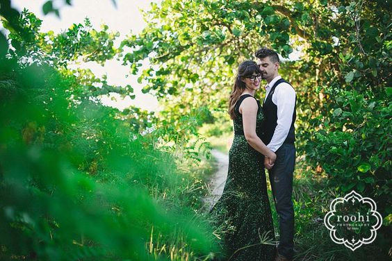 Ashlee & Geoff, Inspiration Shoot, Couples, Outdoor photos, Emerald dress, Roohi Photography