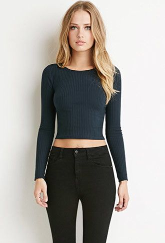 Ribbed Knit Crop Top   Forever 21 - 2000141216