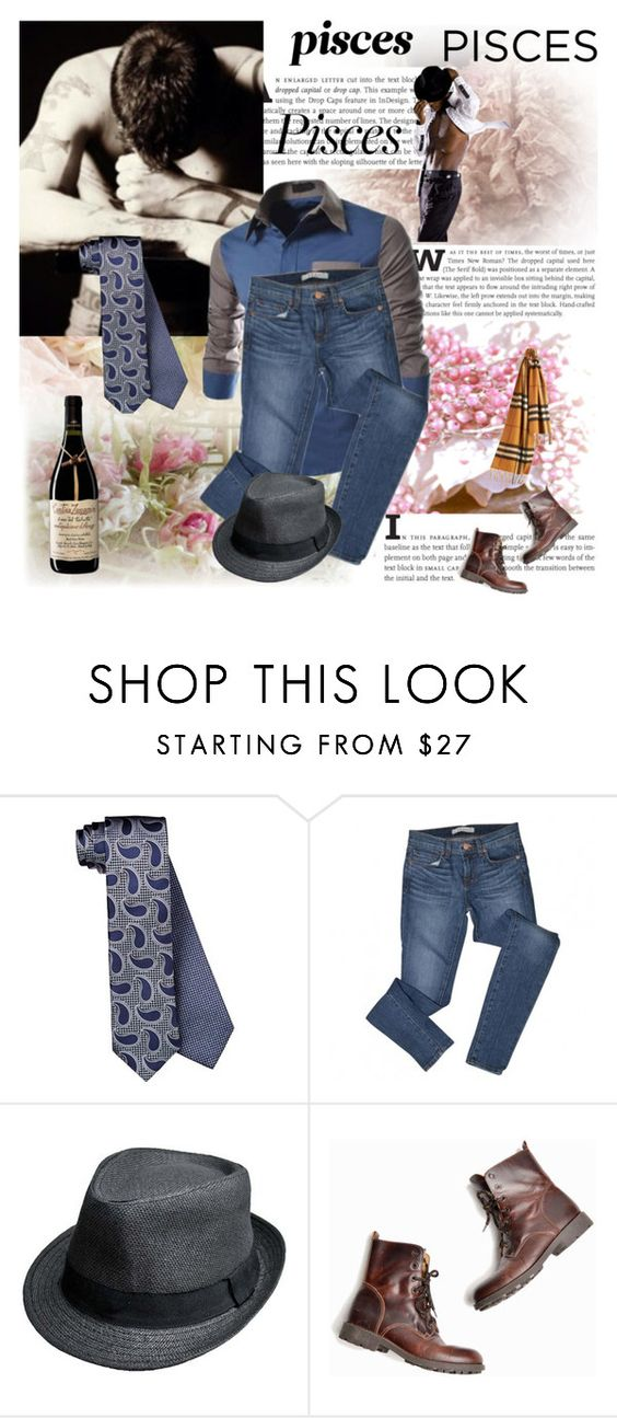 """Pisces"" by smile-2528 ❤ liked on Polyvore featuring Ermenegildo Zegna, J Brand and Burberry"