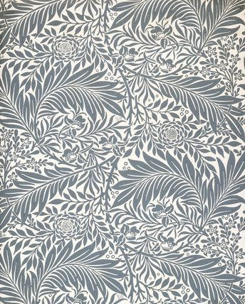 Larkspur wallpaper, by William Morris (1834-96). Colour print from woodblocks. England, late 19th century.