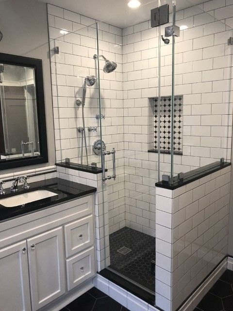 Hex Matte Black Porcelain Mosaic Tile 2 X 2 In The Tile Shop Black Mosaic Tile Bathroom Black Tile Bathrooms White Subway Tile Shower