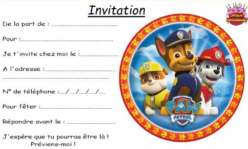 invitation anniversaire garcon