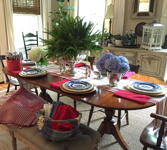 Fourth of July table setting.