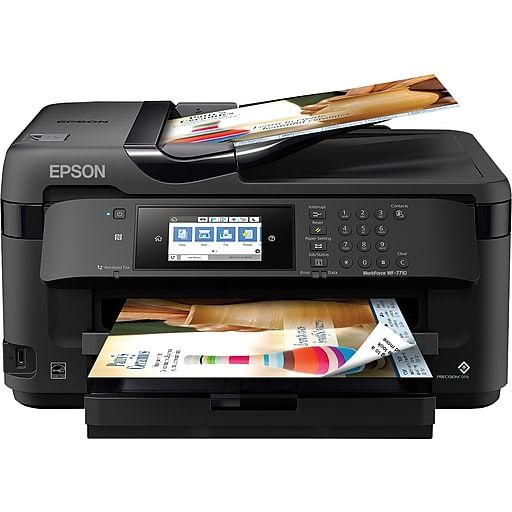 Epson Workforce Wf 7710 Wide Format All In One Printer At Staples Wireless Printer Multifunction Printer Sublimation Printers