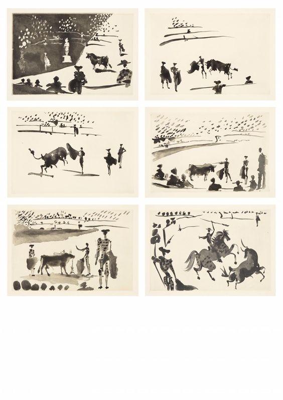Pablo Picasso, La Tauromaquia, o arte de torear - Art Auctionhouse Lempertz #picasso #modernart #cubism #lempertz