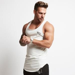 Vq Vest Gym Clothing Menswear Casual Wear Clean And Simple White For A W18 Mens Tank Tops Mens Tank Tops Summer Tank Man