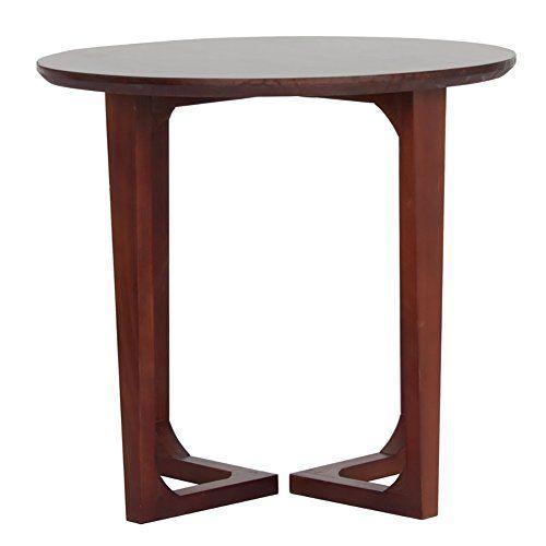 D L Pine Wood Waterproof Side Table Round Sofa Table Bedroom
