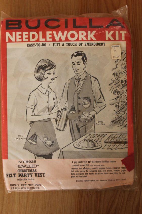 Vintage Bucilla Needlework Kit Felt Party by foundundertheeaves