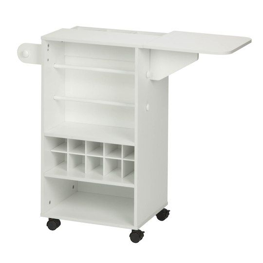 Honey Can Do Storage Craft Cart With Foldable Extension Craft Storage Cart Storage Cart Ikea Craft Room
