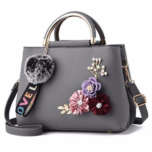 Handbags Flower Bag Leather Messenger Bags Fur Ball Crossbody